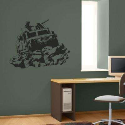 26.5 in. X 35.5 in. Hummvee Sudden Shadow Wall Decal