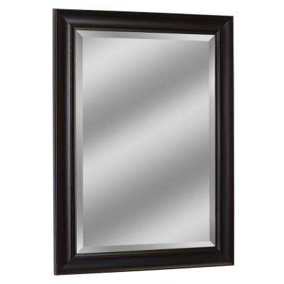 35 in. x 29 in. Framed Wall Mirror in Espresso