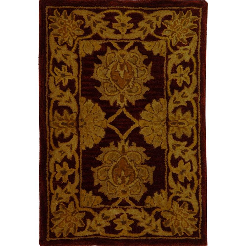 Reviews For Safavieh Heritage Maroon 2 Ft X 4 Ft Area Rug Hg314b 24 The Home Depot