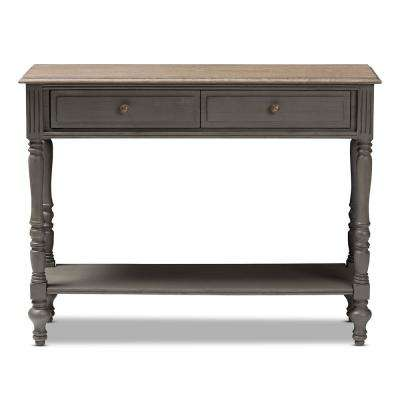 Noemie Brown 2-Drawer Console Table