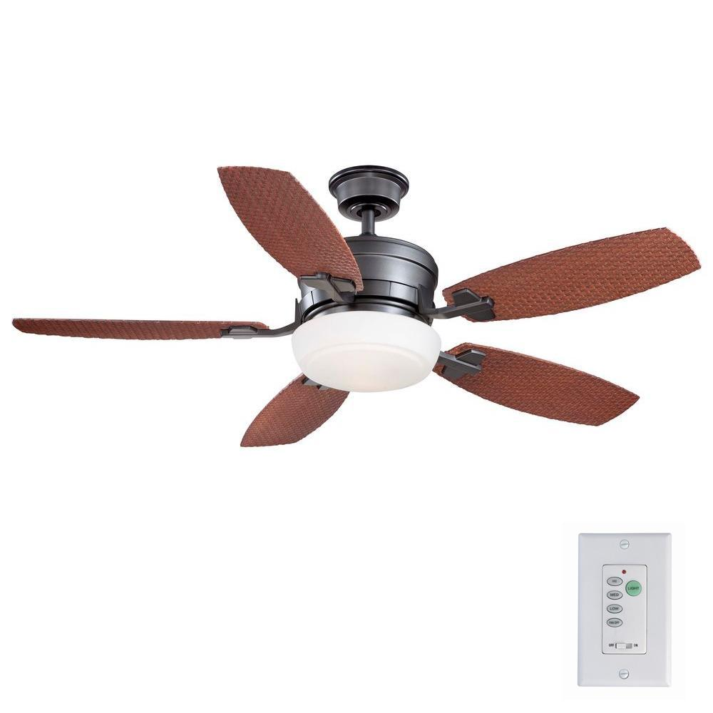 Home Decorators Collection Molique 54 in. Indoor/Outdoor Natural Iron Ceiling Fan with Light Kit and Wall Control