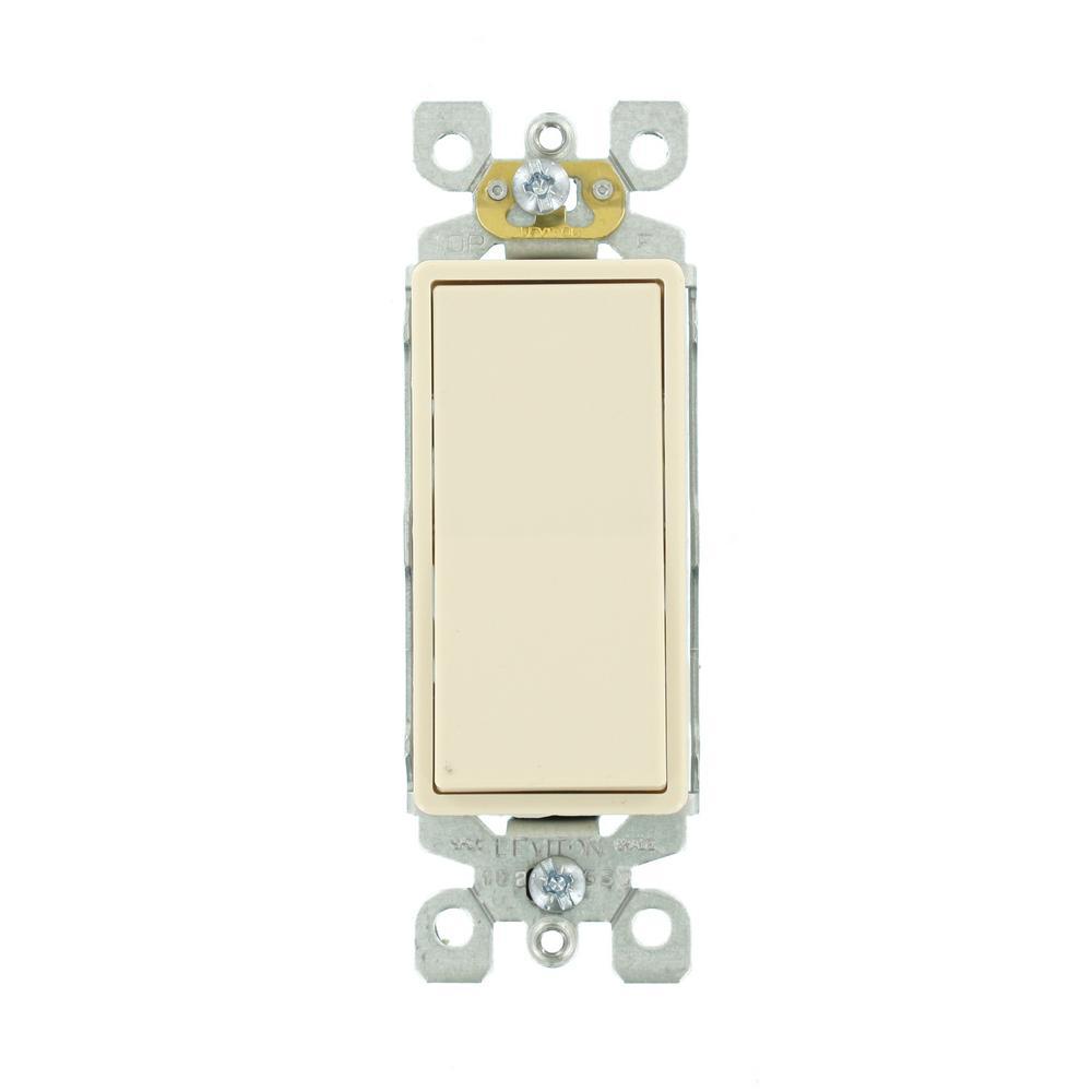 Leviton Decora 15 Amp Single-Pole AC Quiet Switch, Light Almond (10-Pack)
