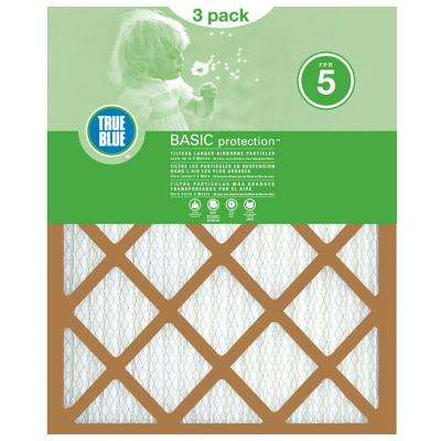 20 in. x 25 in. x 1 in. Basic Pleated FPR 5 Air Filters (3-Pack)