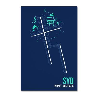 """16 in. x 24 in. """"SYD Airport Layout"""" by 08 Left Canvas Wall Art"""