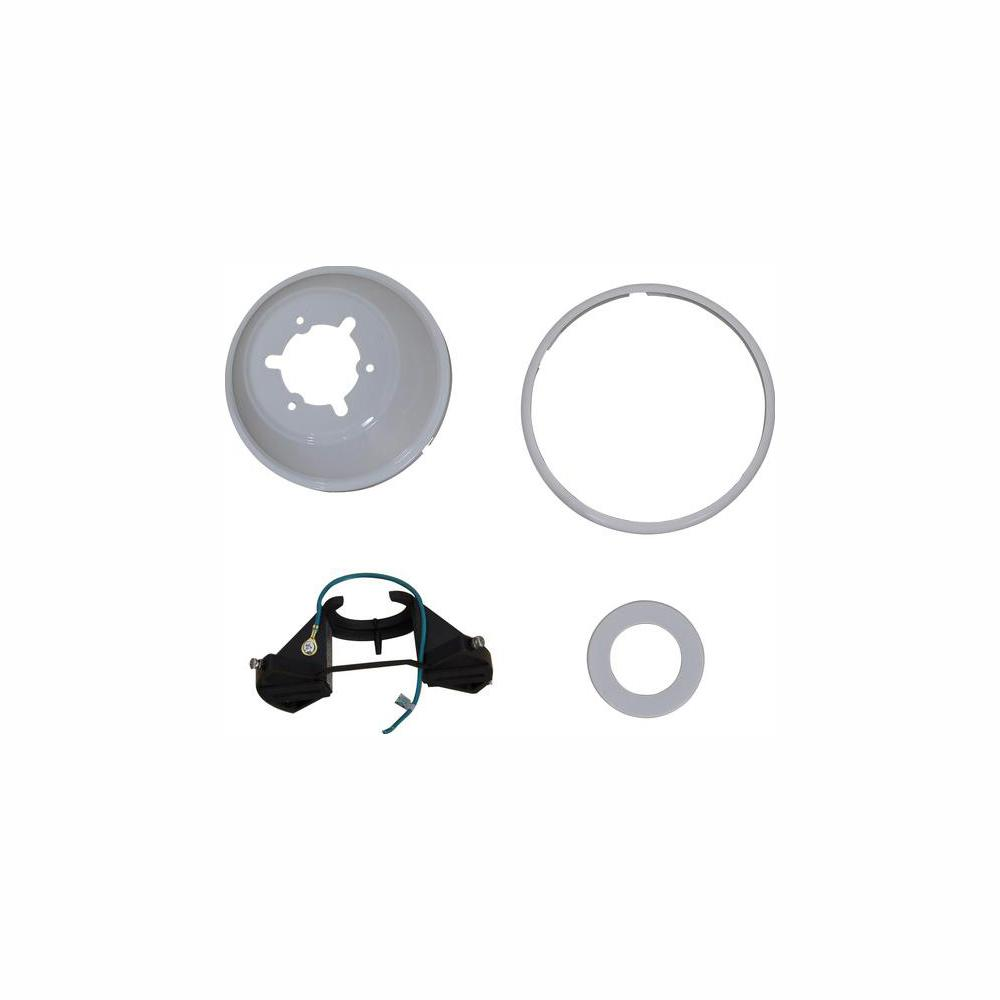 Home Decorators Collection Marshlands LED 52 in. White Mounting Bracket And Canopy Set