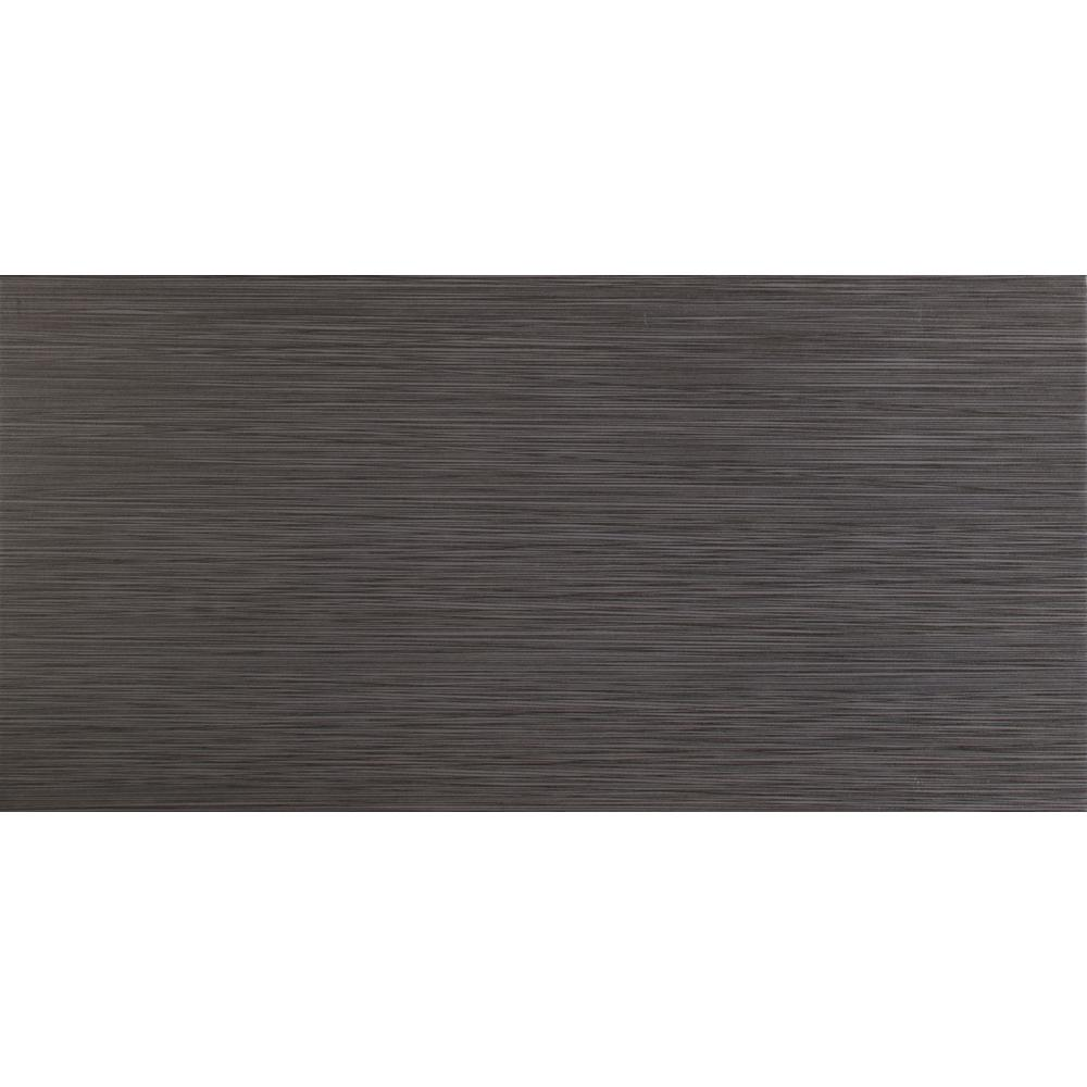 Msi Metro Charcoal 12 In X 24 In Matte Porcelain Floor And Wall Tile 2 Sq Ft Nmetcha1224 The Home Depot