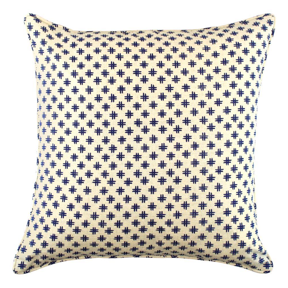 American Colors Navy Hash Tag Printed Pillow