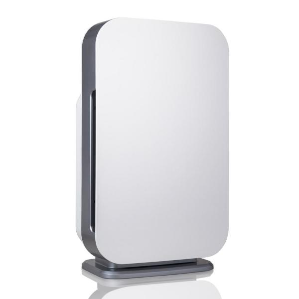 Customizable Air Purifier with HEPA-Silver Filter to Remove Allergies Mold and Bacteria in White