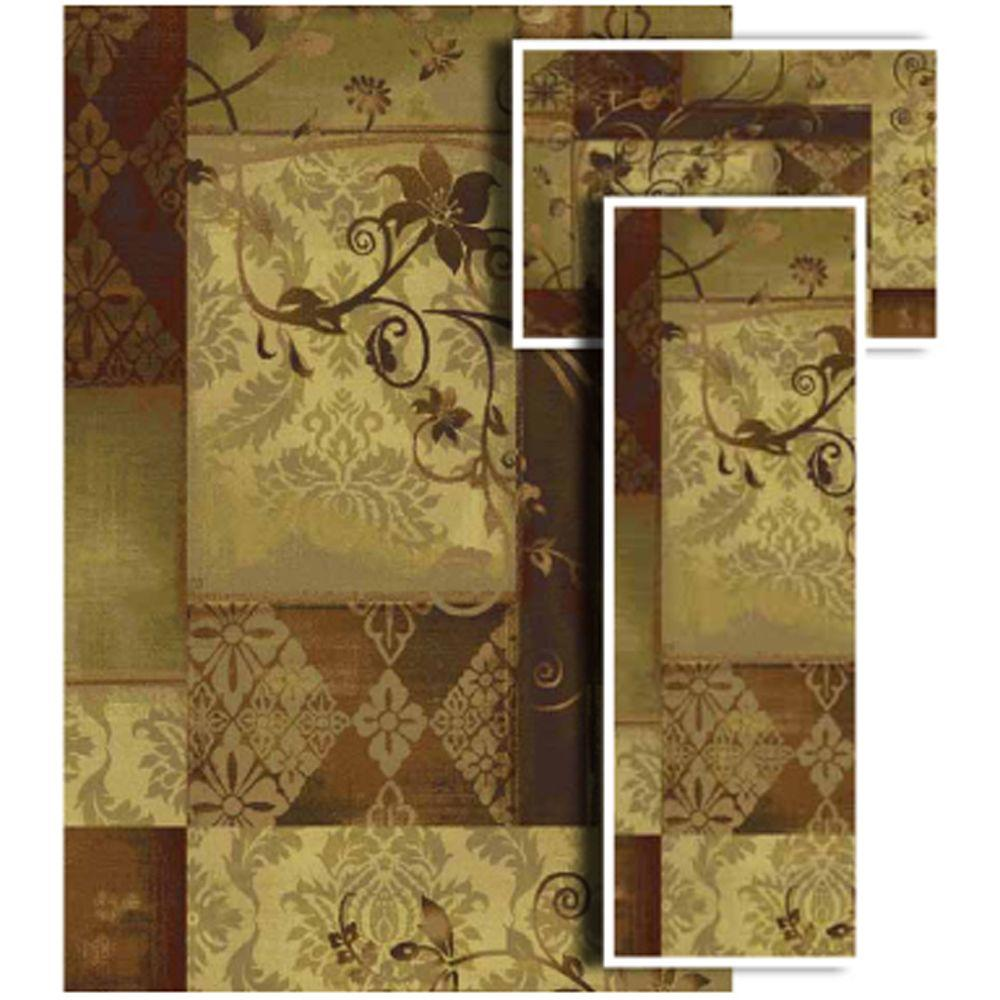 Oriental Weavers Tao Amelia Multi 4 ft. 11 in. x 7 ft. 3 Piece Rug Set-DISCONTINUED