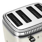 Russell Hobbs Retro Style 4-Slice Cream and Stainless-Steel Toaster
