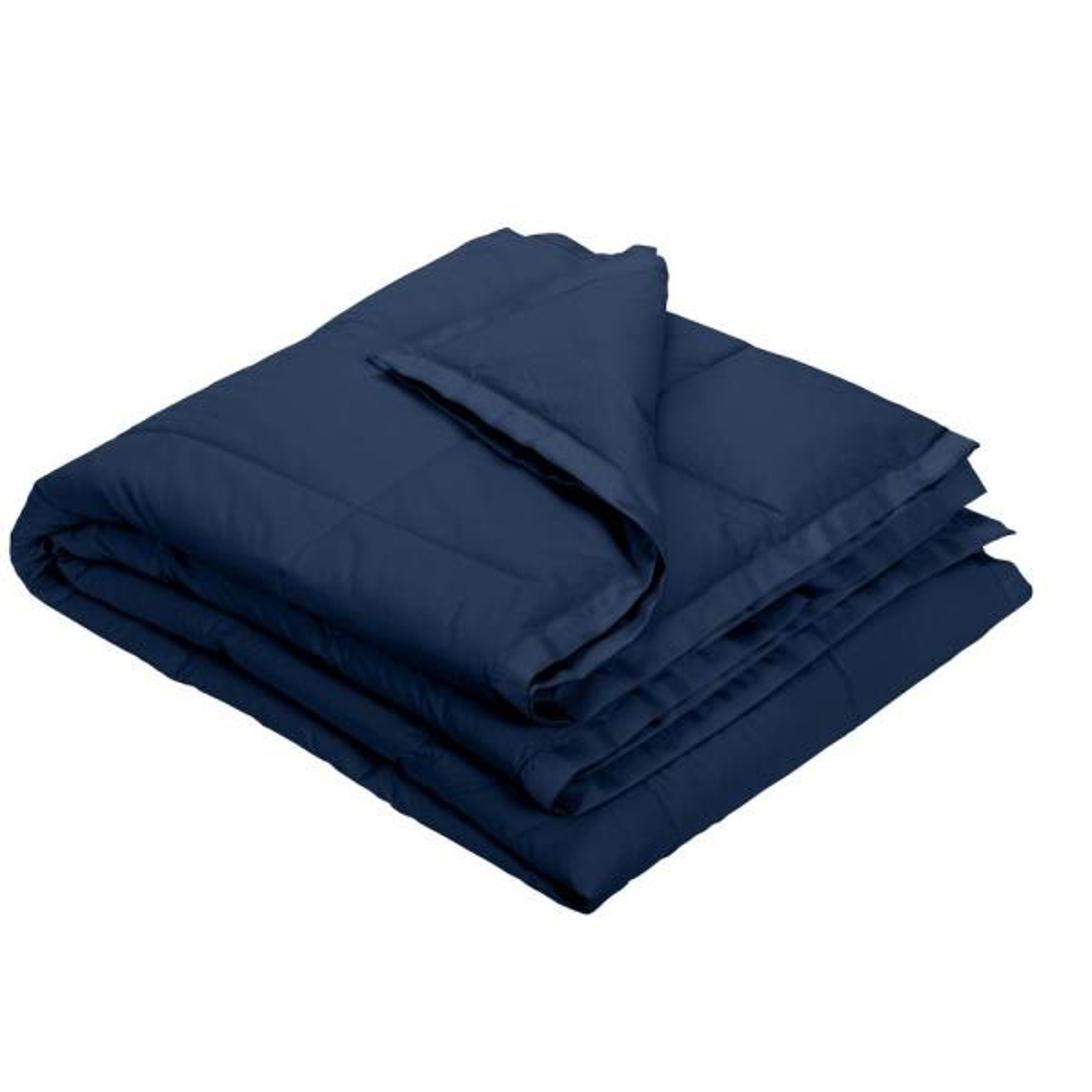 The Company Store LaCrosse LoftAIRE Navy Blue Full/Queen Blanket KO80-FQ-NAVY-BLUE