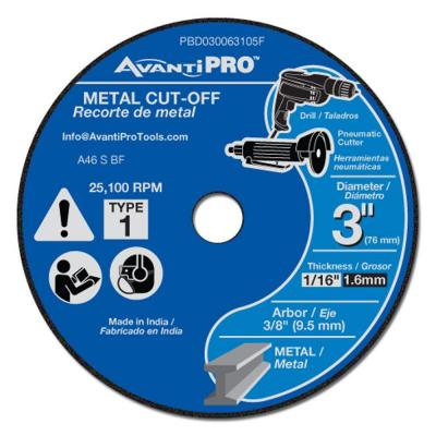 3 in. x 1/16 in. x 3/8 in. Metal Cut-Off Disc (5-Pack)