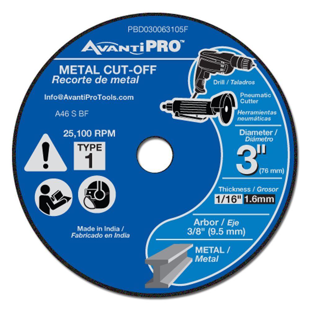 3 in. x 1/16 in. x 3/8 in. Metal Cut-Off Disc (5-Pack)