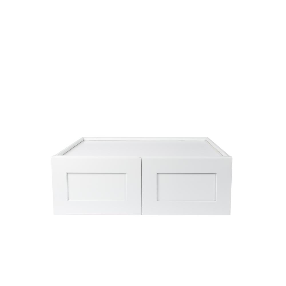 Plywell Ready To Emble 36x24x12 In Shaker High Double Door Wall Cabinet White