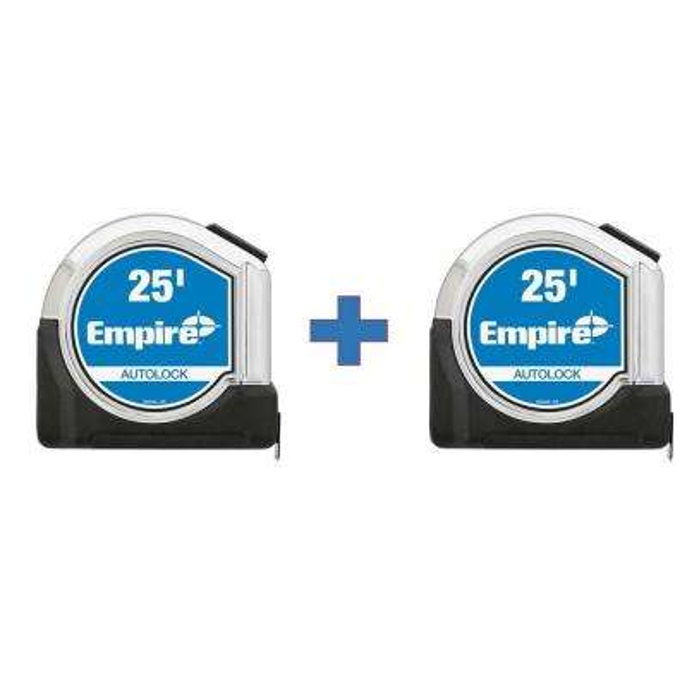 25 ft. Chrome Auto Lock Tape Measure (2-Pack)