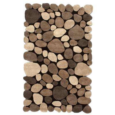 Pebbles Natural 3 ft. 6 in. x 5 ft. 6 in. Area Rug
