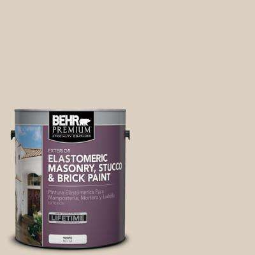 1 gal. #MS-13 Aspen Elastomeric Masonry, Stucco and Brick Exterior Paint