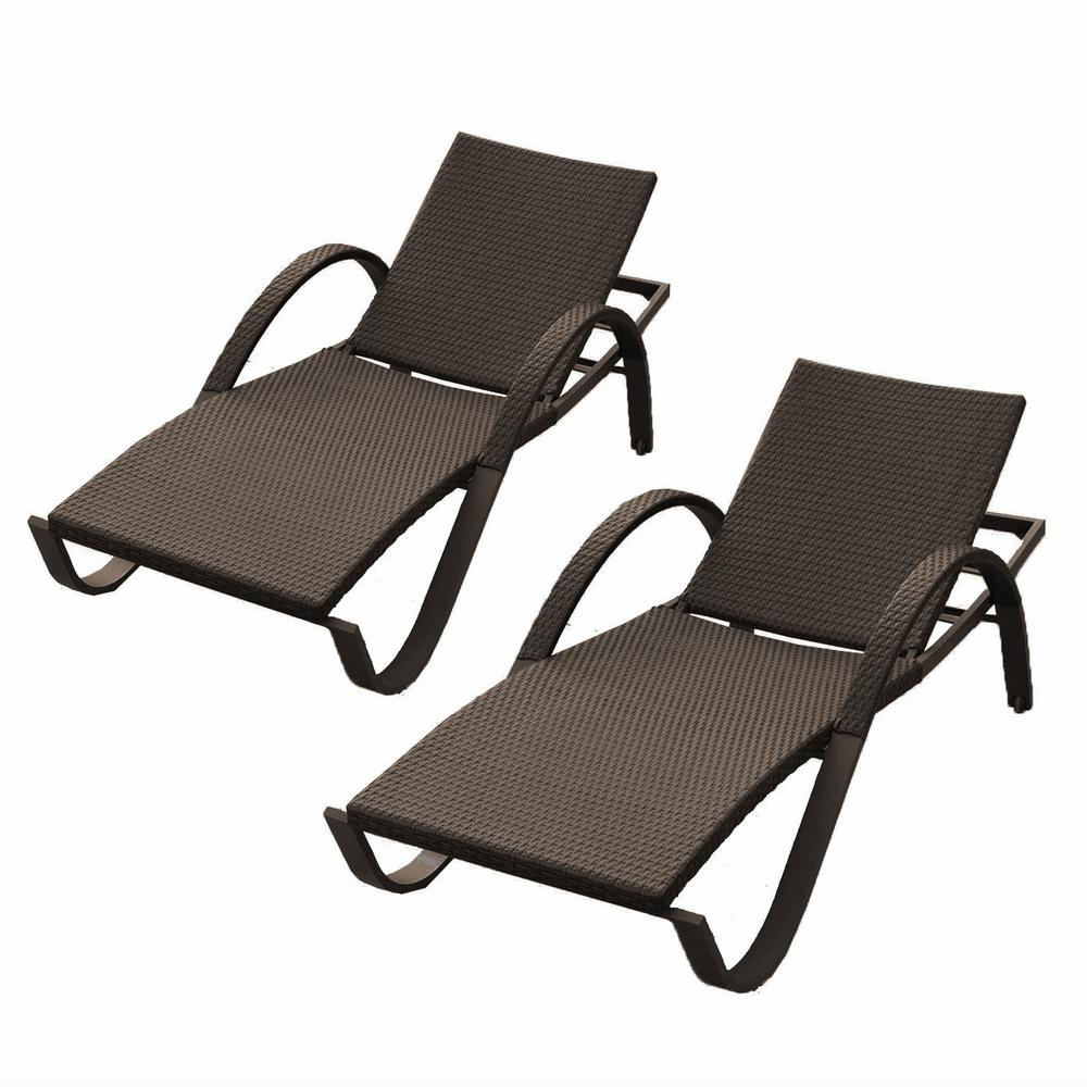 rst brands deco patio chaise lounges set of 2 op peal dec 2e the home depot. Black Bedroom Furniture Sets. Home Design Ideas