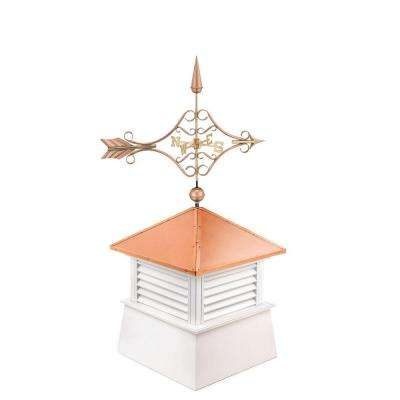 Manchester 30 in. x 32 in. x 73 in. Vinyl Cupola with Standard Victorian Arrow