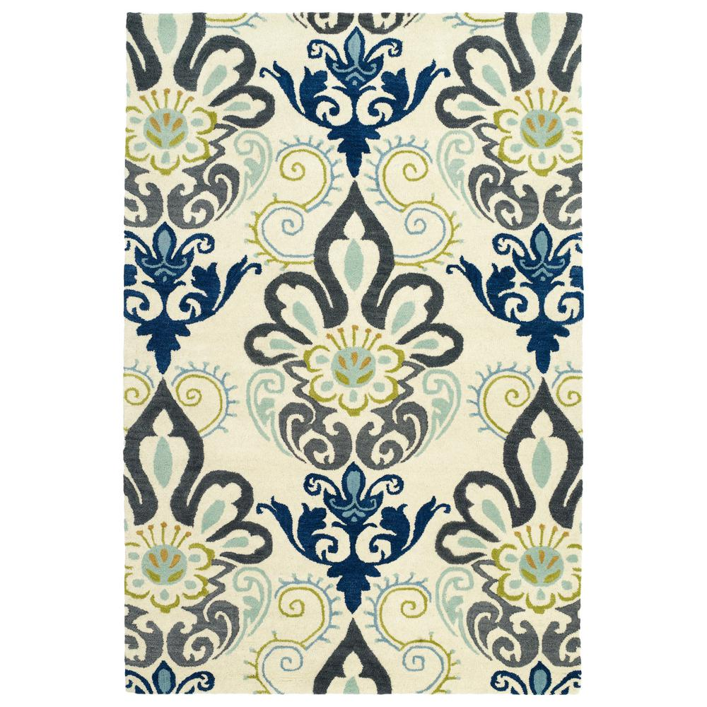 Bohemian Comfort Blue 5 ft. x 7 ft. 9 in. Area