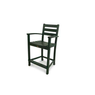Monterey Bay Rainforest Canopy Patio Counter Arm Chair