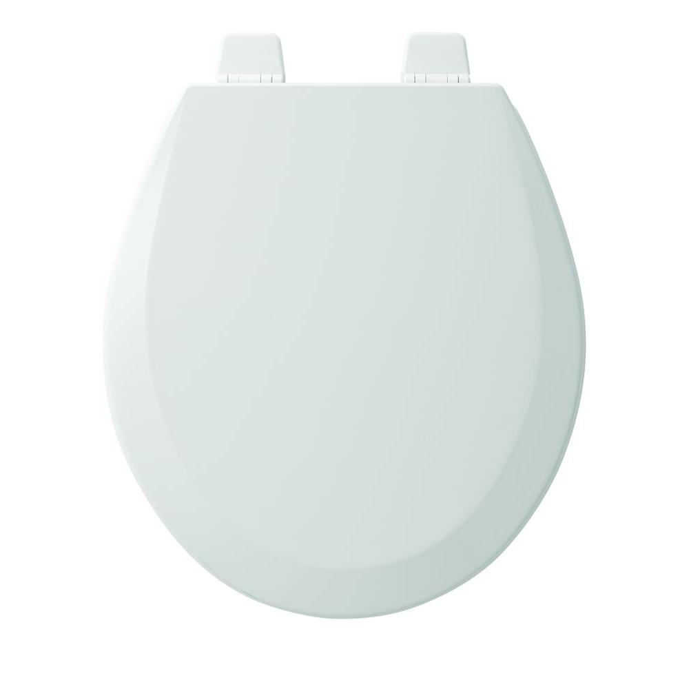 Round Closed Front Toilet Seat in White