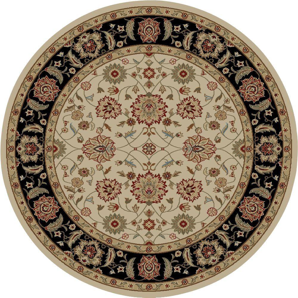 Concord Global Trading Ankara Zeigler Ivory 7 ft. 10 in. Round Area Rug