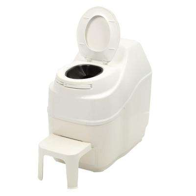 Excel Electric Waterless High Capacity Self Contained Composting Toilet in White