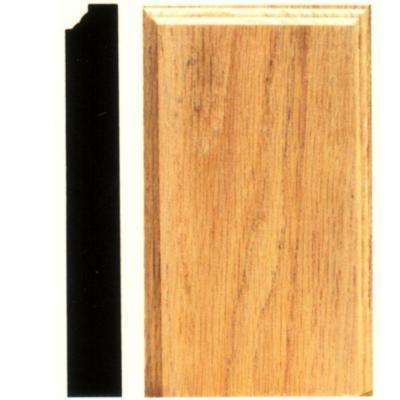 1-1/8 in. x 4-1/2 in. x 8 in. Hardwood Plinth Block Moulding