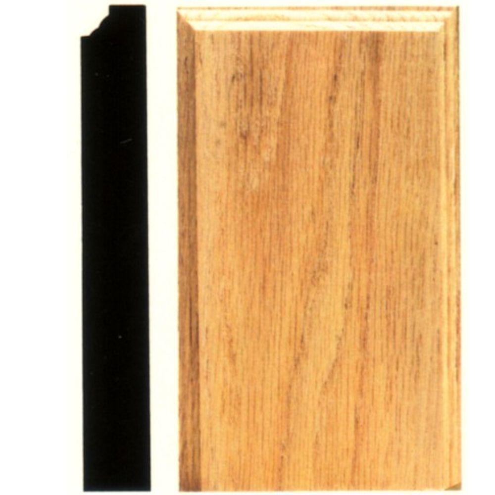 1-1/8 in. x 4-1/2 in. x 8 in. Hardwood Plinth Block Moulding