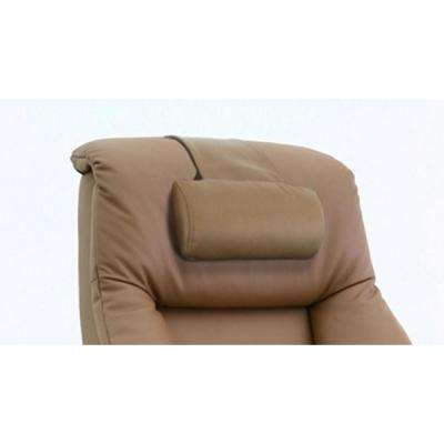 Oslo Collection Sand Tan Top Grain Leather Cervical Pillow