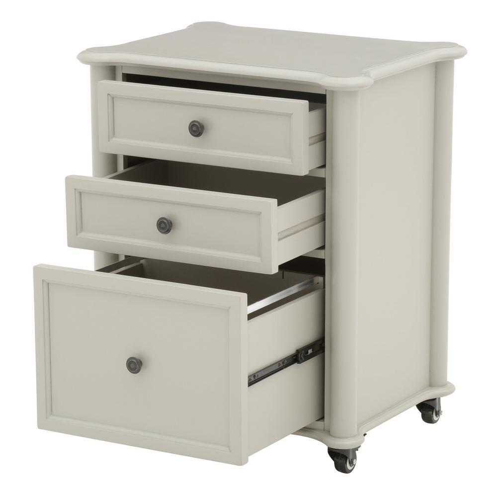 Attirant +8. Martha Stewart Living Ingrid Rubbed Gray File Cabinet