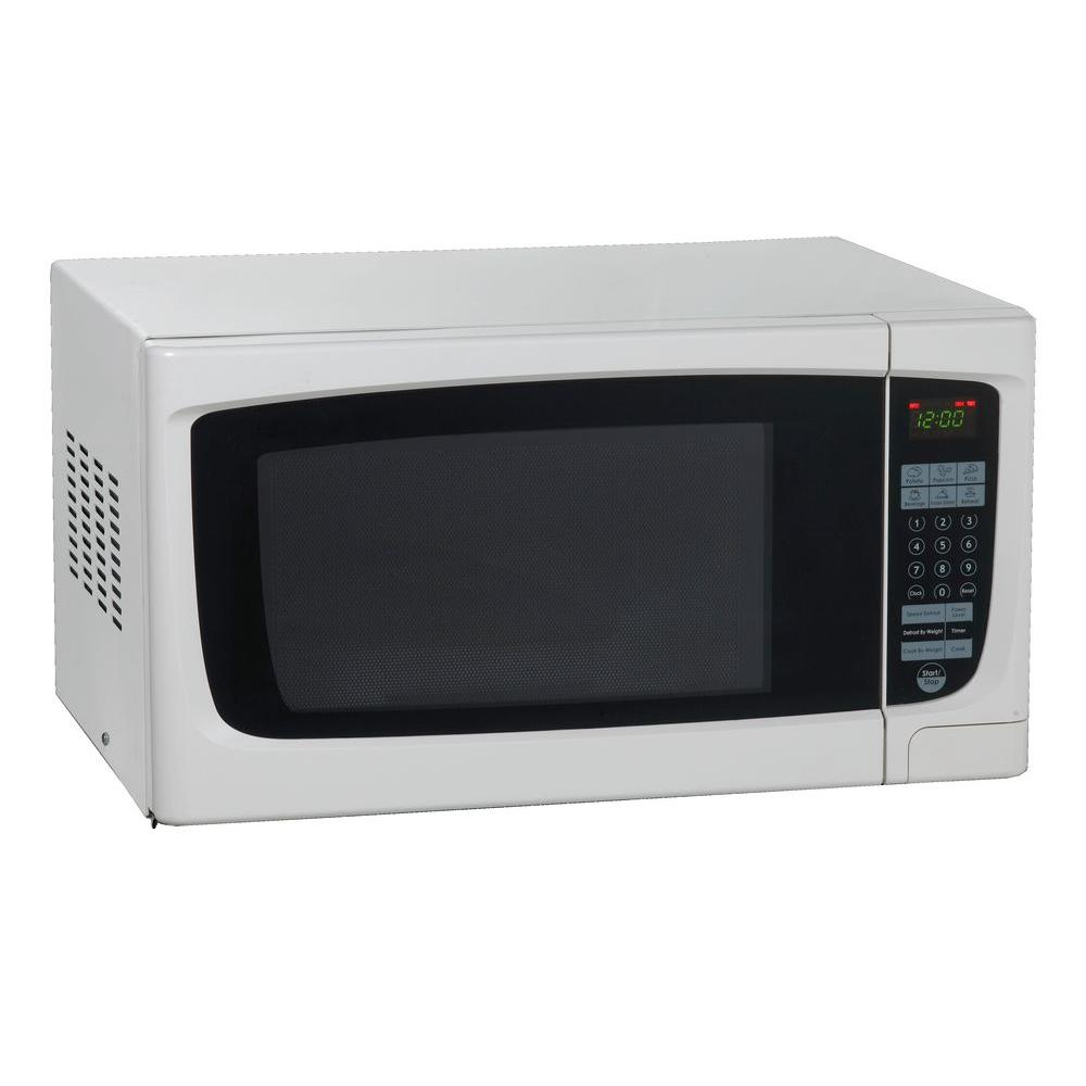 1.4 cu. ft. Countertop Microwave White, with Sensor Cooking