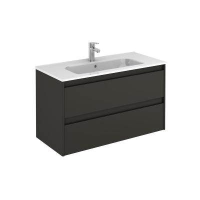 39.8 in. W x 18.1 in. D x 22.3 in. H Bathroom Vanity Unit in Anthracite with Vanity Top and Basin in White