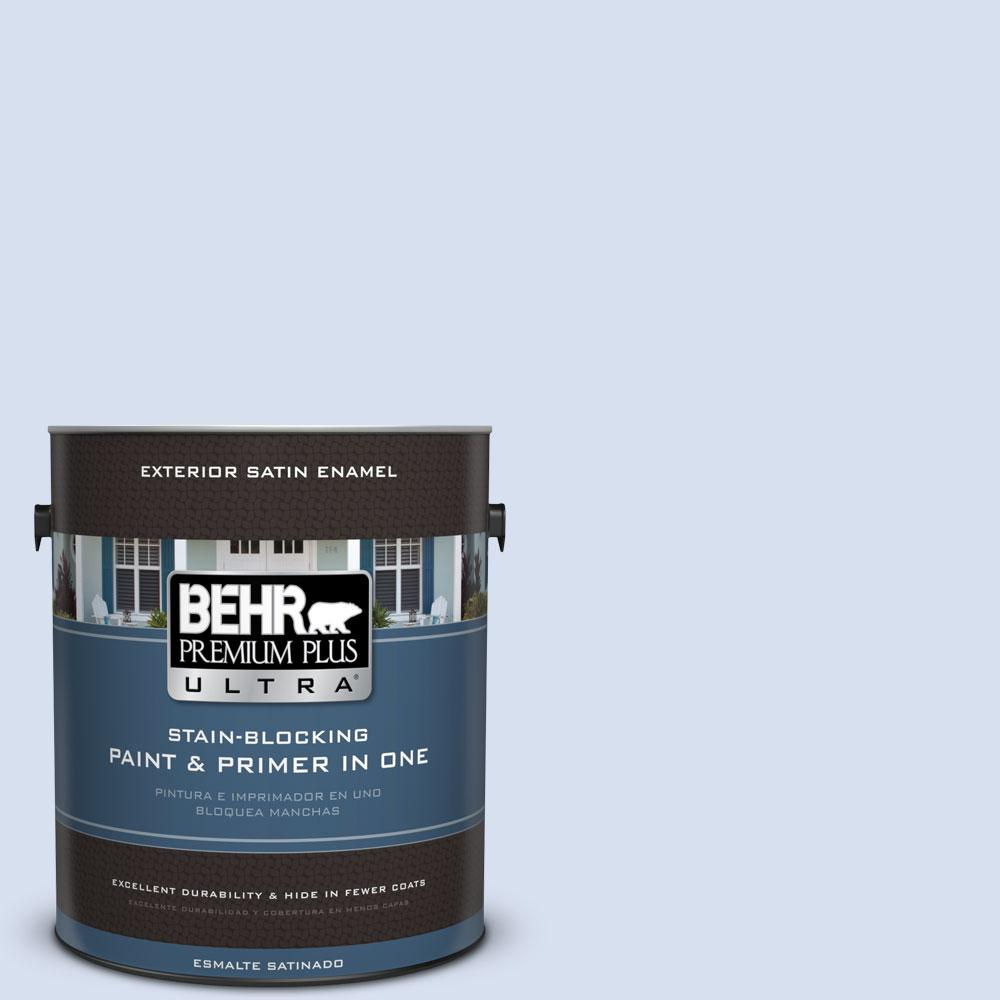 BEHR Premium Plus Ultra 1-gal. #580A-2 Icy Bay Satin Enamel Exterior Paint