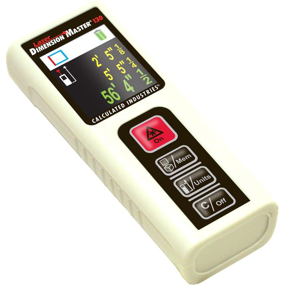 Calculated Industries Laser Dimension Master 130 ft. Laser Measure with Color Display