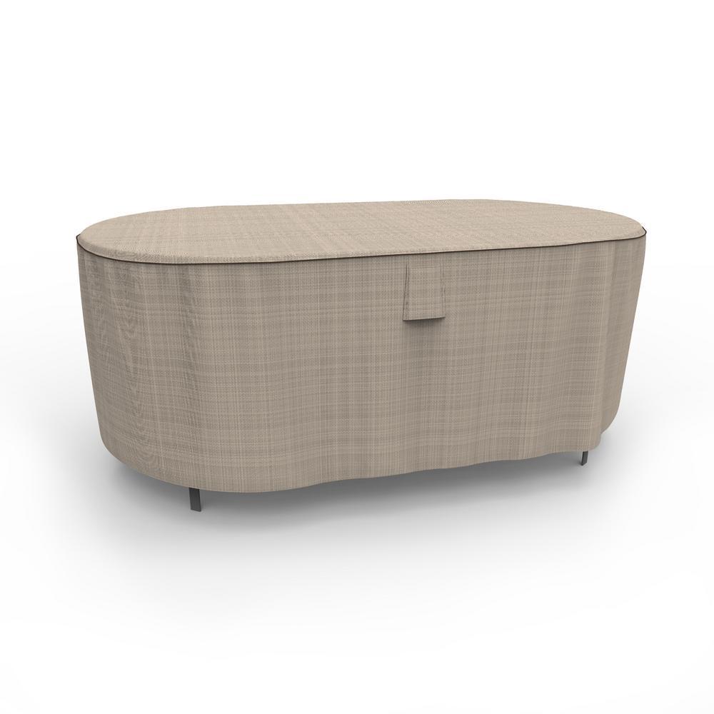 Rust-Oleum NeverWet Mojave Medium Black Ivory Oval Patio Table Cover