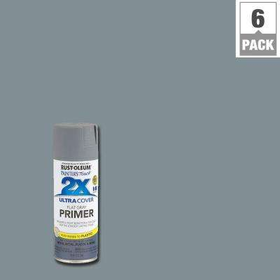 12 oz. Flat Gray Primer General Purpose Spray Paint (6-Pack)