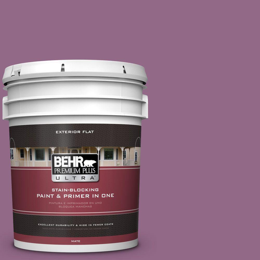 BEHR Premium Plus Ultra 5-gal. #680D-6 Lantana Flat Exterior Paint
