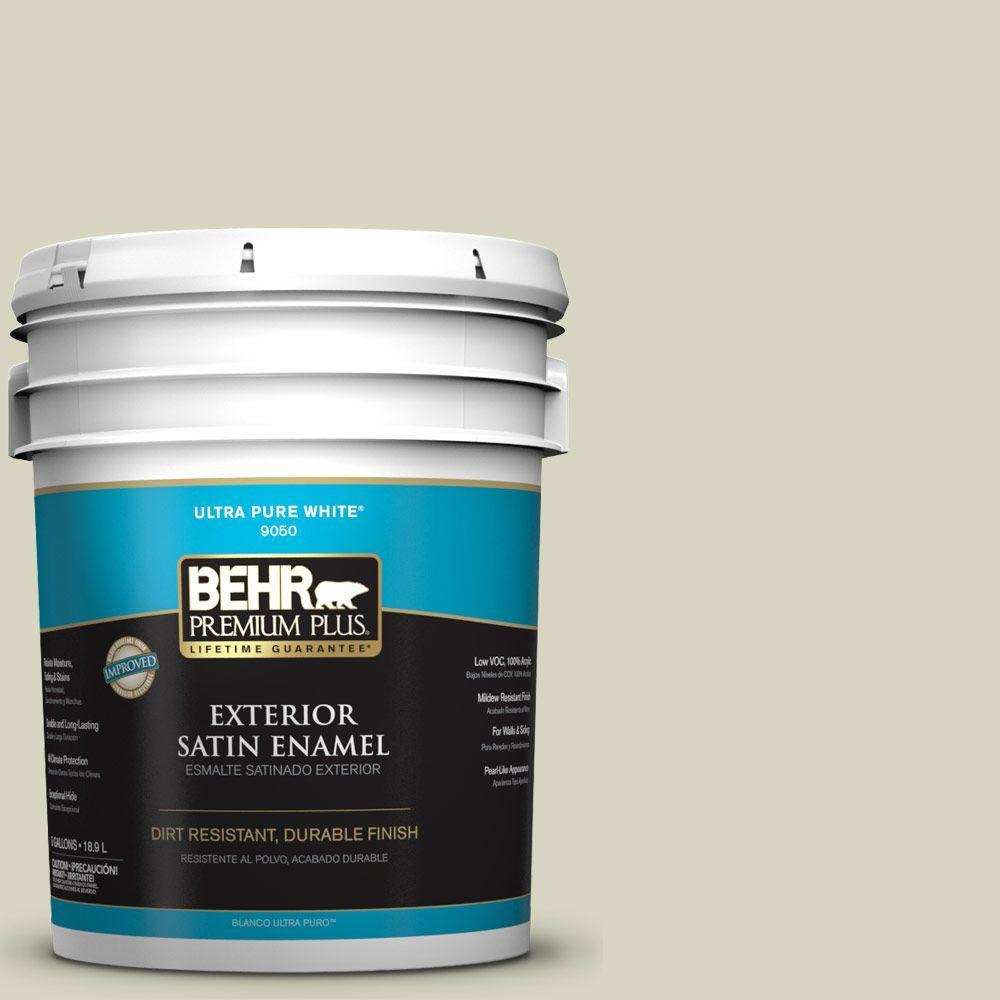 5-gal. #HDC-SM14-9 Thin Mint Satin Enamel Exterior Paint