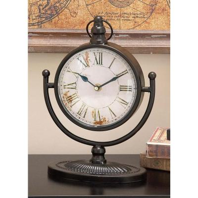 12 in. x 4 in. Round-shaped Iron Table Clock (4-Pack)