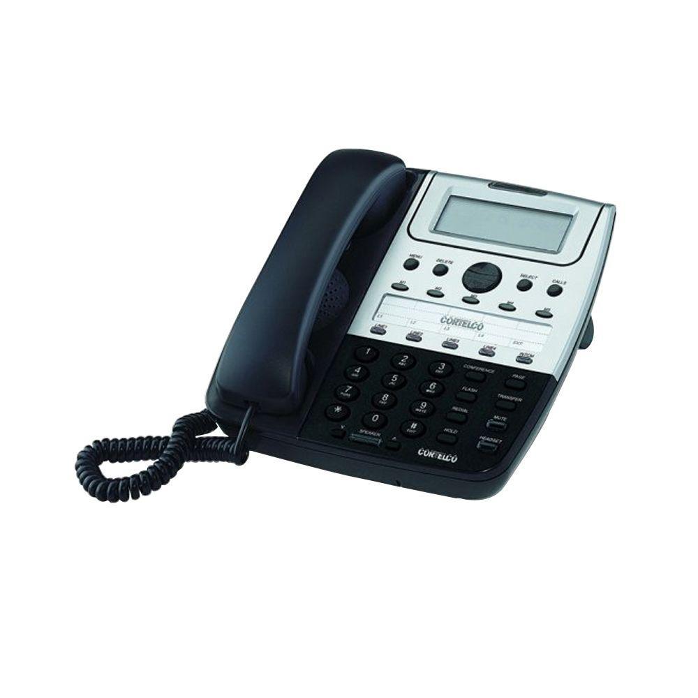 Cortelco Feature 4-Line Corded Telephone - Black