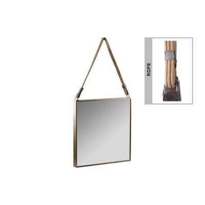 Square Gold Tarnished Mirror