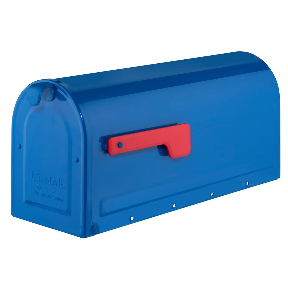 Architectural Mailboxes Mb1 Post Mount Mailbox Blue With