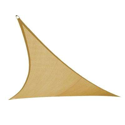 23 ft. x 23 ft. Beige Triangle Ultra Shade Sail