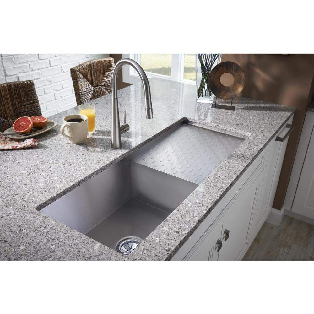 Elkay Crosstown Undermount Stainless Steel 44 In Single Bowl