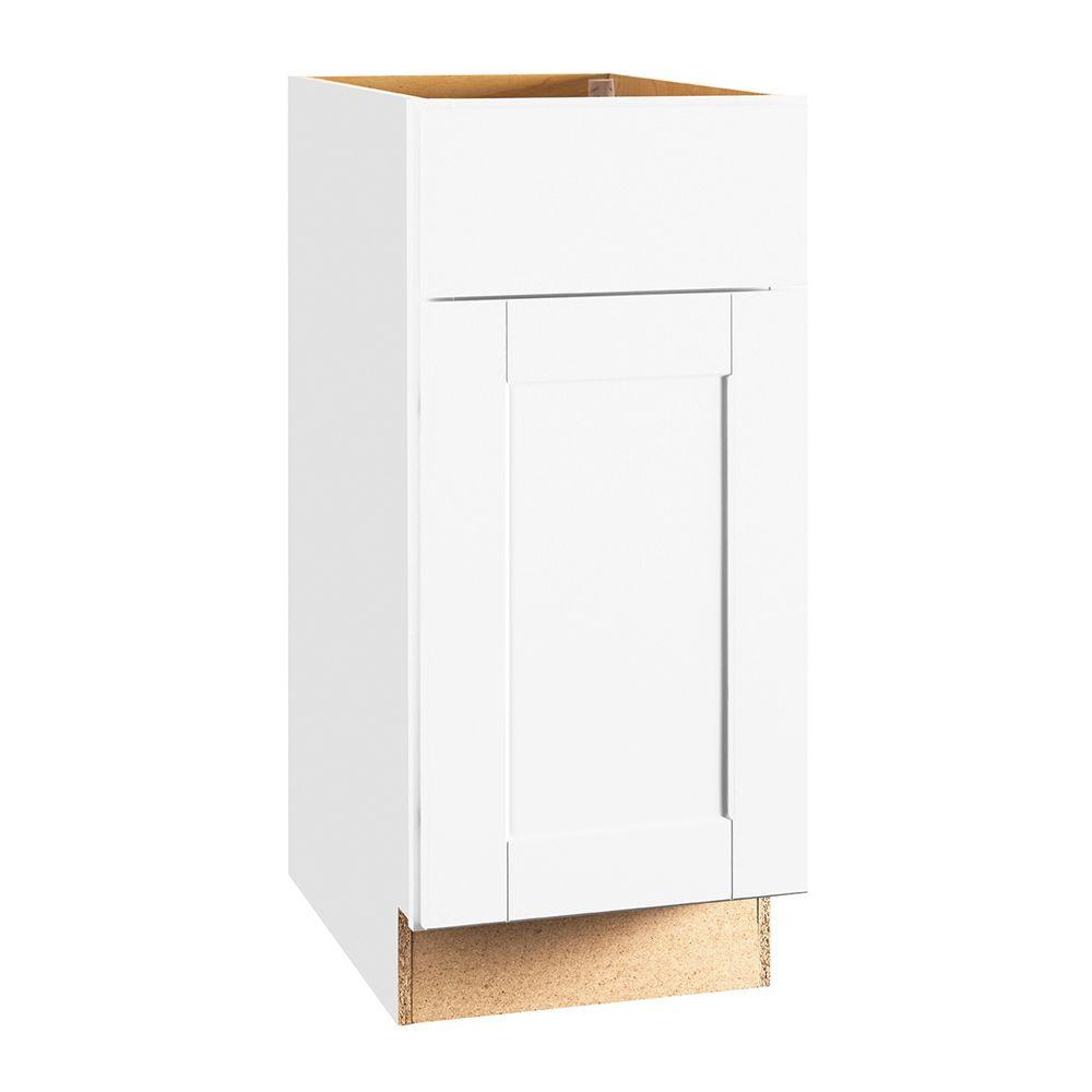 Shaker Assembled 15x34.5x24 in. Base Kitchen Cabinet with Ball-Bearing Drawer