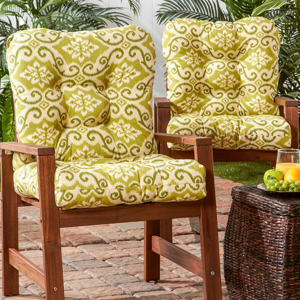 Amazing Greendale Home Fashions Shoreham Ikat Outdoor Dining Chair Cushion 2 Pack Inzonedesignstudio Interior Chair Design Inzonedesignstudiocom