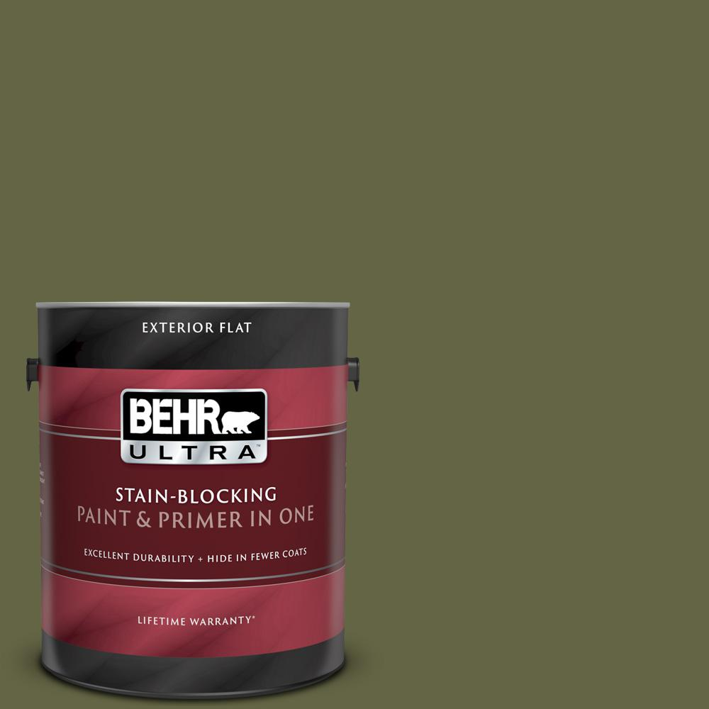 BEHR ULTRA 1 gal. #PPU9-24 Amazon Jungle Flat Exterior Paint and Primer in One BEHR ULTRA 1 gal. #PPU9-24 Amazon Jungle Flat Exterior Paint and Primer in One