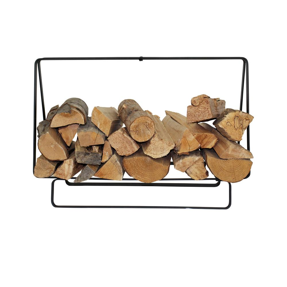 2.65 ft. Handcrafted Indoor/Outdoor Medium Rectangular Firewood Rack with Handle